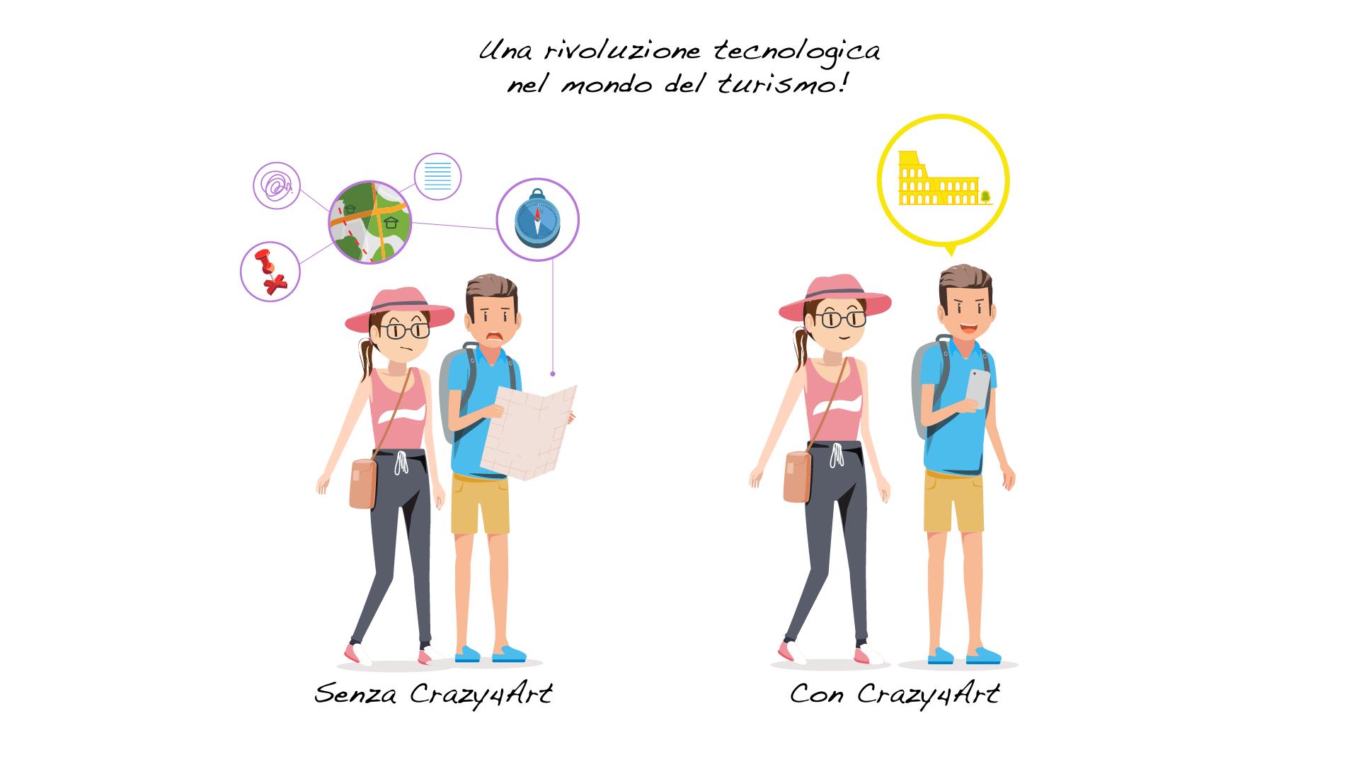 Crazy4Art App Roma audioguida realizzazione immagini Play Store - Apple App Store- Web Graphic Designer - Patrizio Rossi