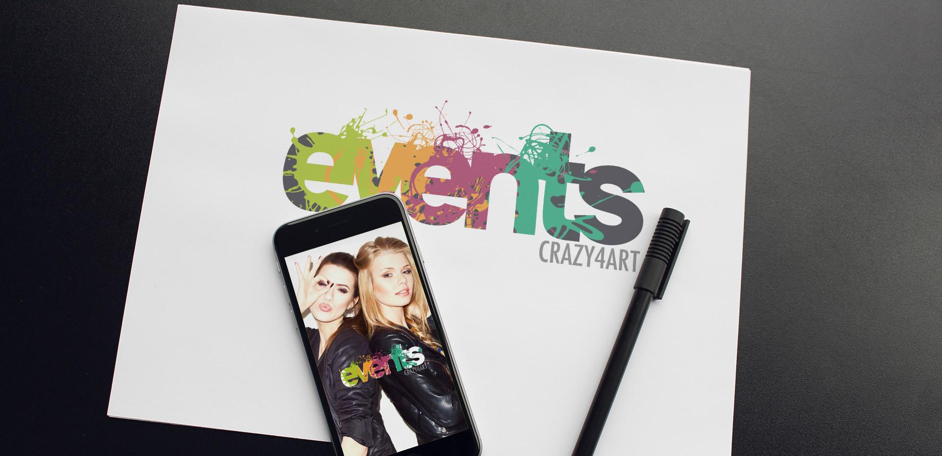 Events Crazy4Art Creazione Logo - Patrizio Rossi Web and Graphic Designer - Portfolio web e grafica