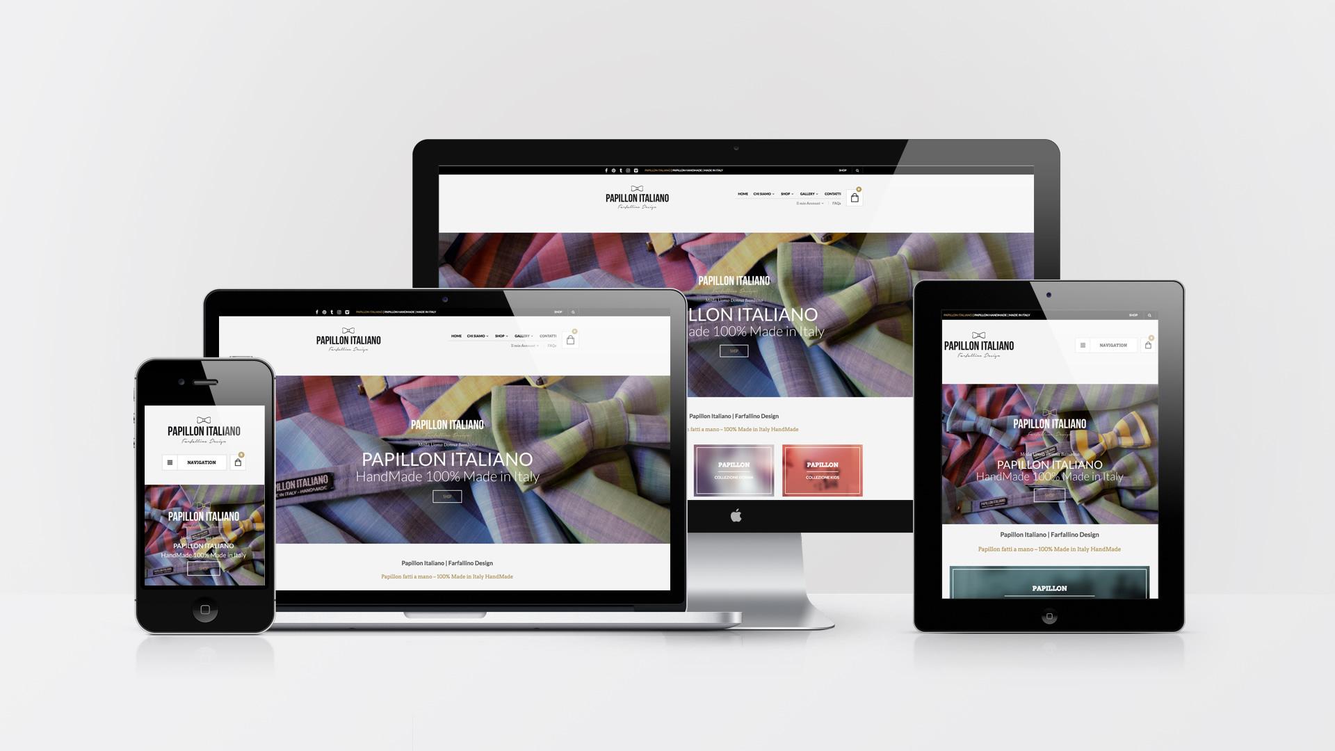 Papillon Italiano Web eCommerce Realizzazione logo Brand Identity - web graphic designer - brand - Patrizio Rossi