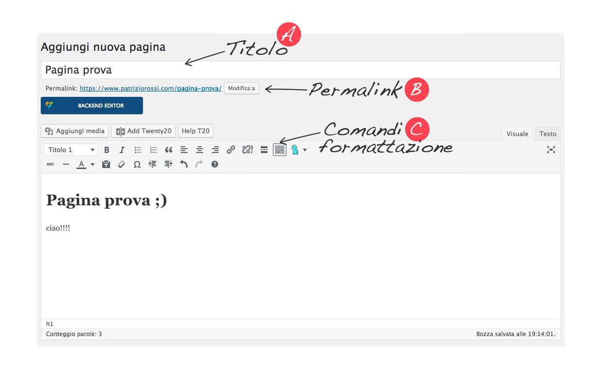 Come Creare una nuova pagina Con WordPress - Patrizio Rossi Creazione di siti web - Graphic design